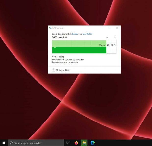 Transfert de fichiers sous Windows 10