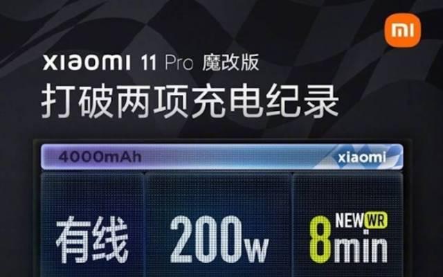Xiaomi Mi 11 Pro 200W Charging