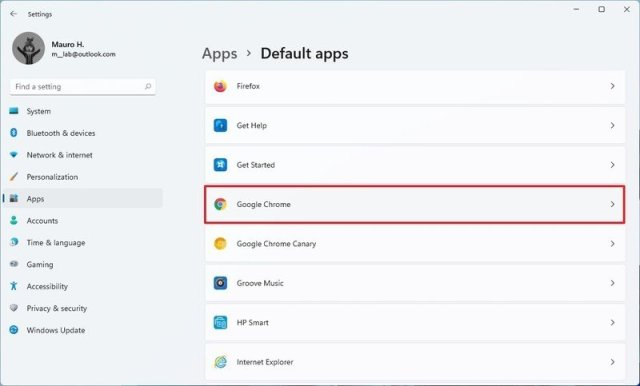 Select new default browser