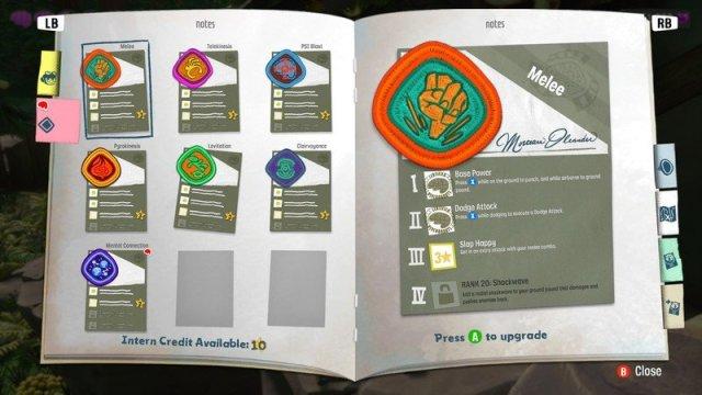Psychonauts 2 Ability Upgrades Screenshot