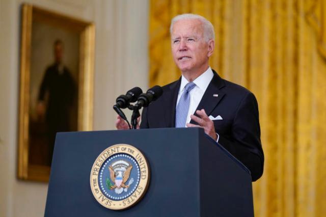 Joe Biden, lors d'une allocution à la Maison Blanche, le 16 août 2021.