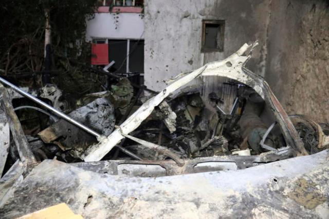 Véhicule détruit par une frappe américaine, le 29 août 2021, à Kaboul.