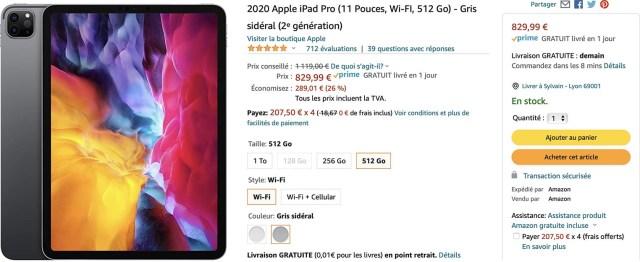 iPad Pro 4 promo Amazon