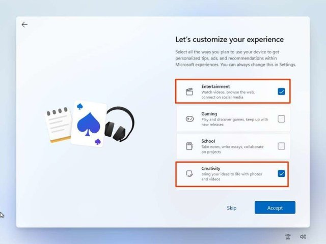 Windows 11 Customize Experience
