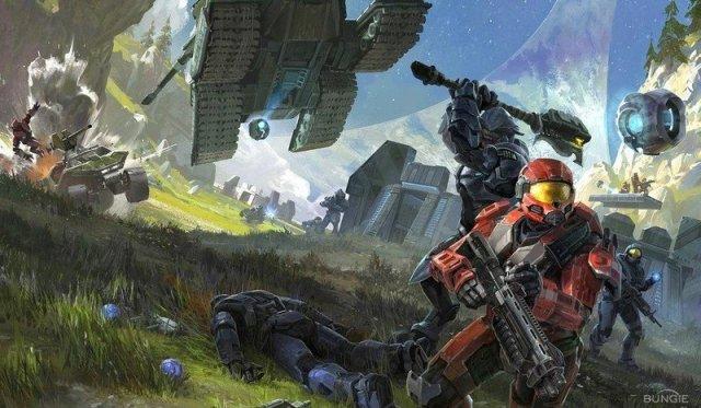 Halo: Reach Forge art.