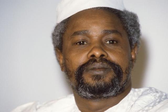 L'ancien président tchadien Hissène Habré en janvier 1987.