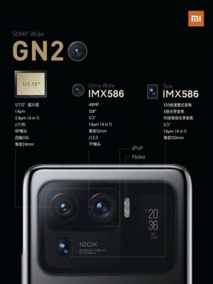 Xiaomi Mi 11 Ultra's camera setup: 50+48+48 MP