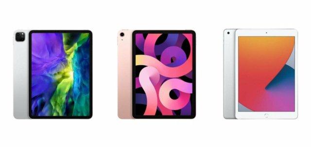 iPad Pro 2020, iPad Air2020 et iPad 8egénération
