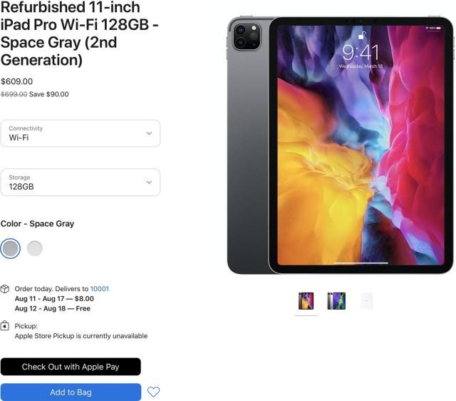 iPad Pro 2020 Refurb Store US