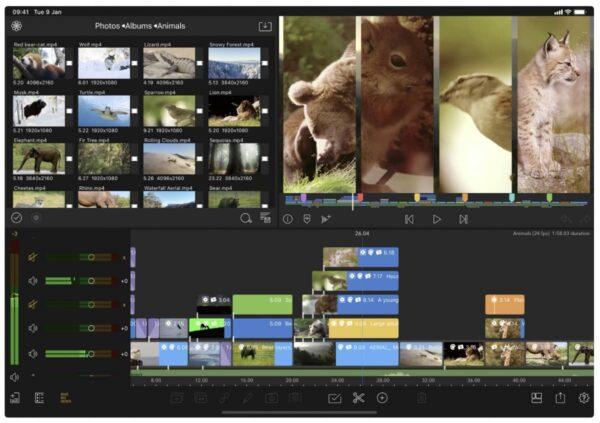 lumafusion, montage vidéo iPad