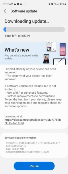 Samsung Galaxy S20 FE 5G gets the September 2021 Android security patch