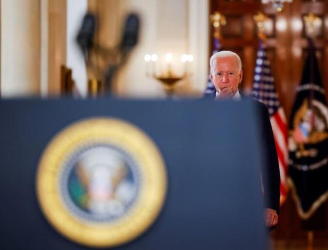 Joe Biden lors d'une allocution sur le retrait des soldats américains d'Afghanistan, à la Maison Blanche, à Washington DC, le 31 août 2021.