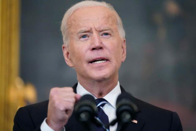Le président américain, Joe Biden, lors de la présentation, à la Maison Blanche, de nouvelles mesures permettant d'intensifier la lutte contre le Covid-19, le 9 septembre 2021.