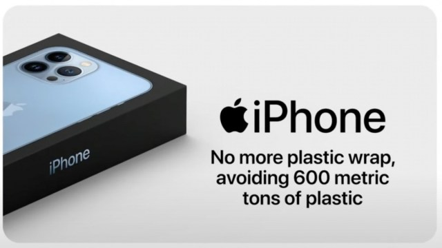 Here is the plastic wrap-free iPhone 13 series box