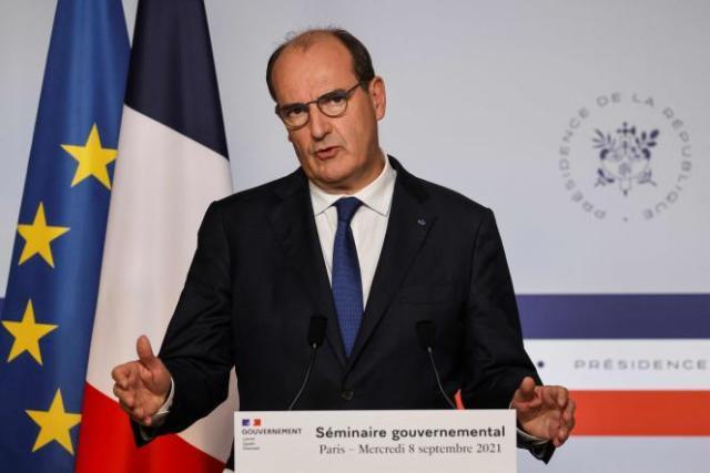 Le premier ministre, Jean Castex, à l'issue du séminaire gouvernemental qui s'est tenu le 8 septembre, à Paris.