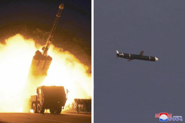 Les essais d'un missile de croisière longue portée montrés par l'agence officielle nord-coréenne, le 13 septembre 2021.