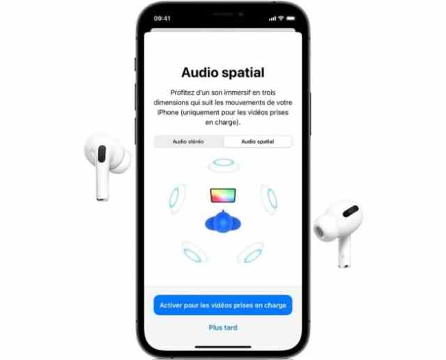 iPhone AirPods Pro spatial audio