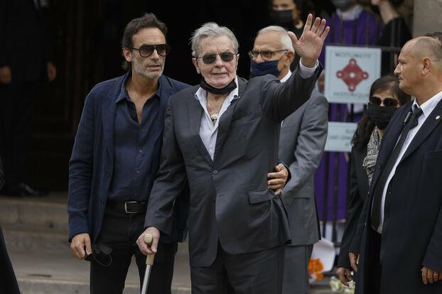 Alain Delon et son fils Anthony. LP/Olivier Corsan