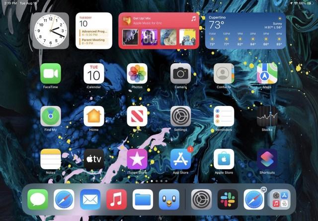 Grosses icônes iPad iPadOS 15