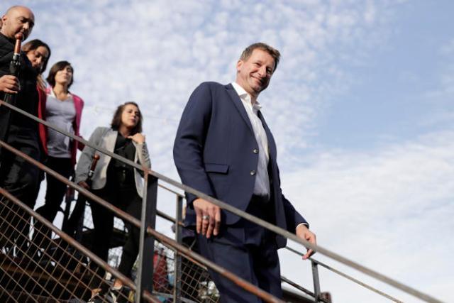 Le candidat des Verts à la présidentielle de 2022, Yannick Jadot, à Paris, le 28septembre 2021.