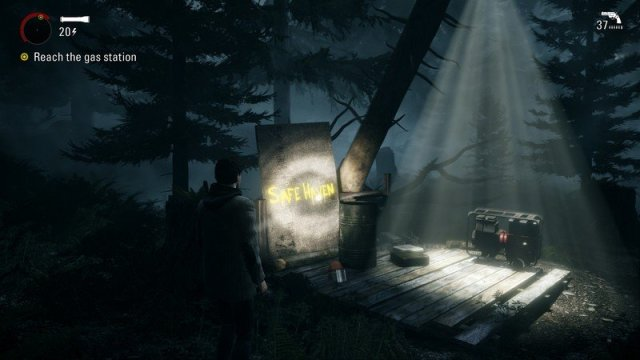 Alan Wake Remastered Light Safe Haven