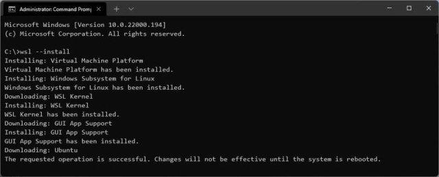 Windows 11 WSL install