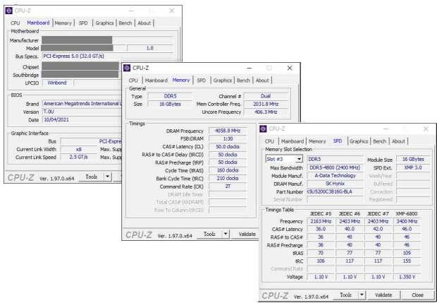 Mémoire vive DDR5 XPG d'ADATA - OC à 8118 MHz