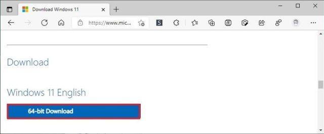 Windows 11 64-bit download