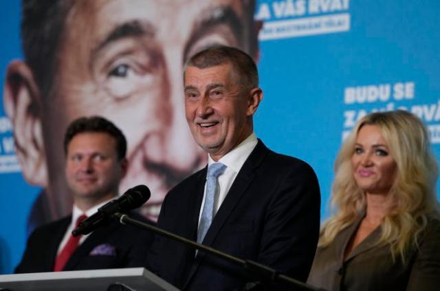 Andrej Babis, premier ministre sortant et candidat à sa réélection, samedi 9octobre 2021, à Prague.