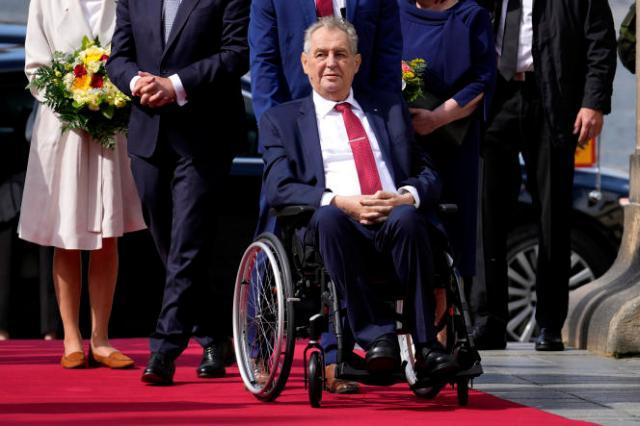Le président tchèque, Milos Zeman, en août 2021 à Prague.