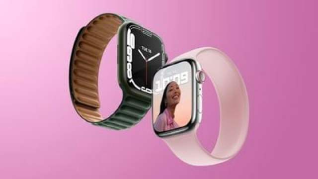 Apple Watch Series 7 Pink and Green Feature