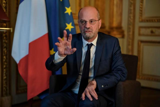Jean-Michel Blanquer, dans son bureau au ministère de l'éducation nationale, à Paris, le 13octobre 2021.