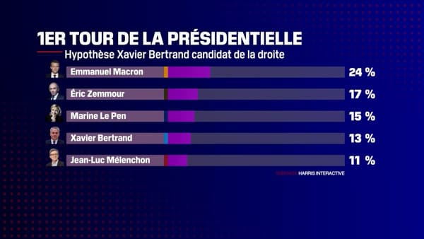 Capture d'écran du sondage Harris Interactive pour Challenges