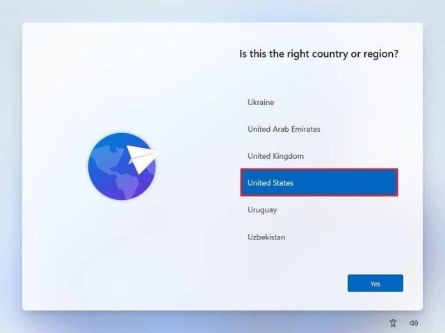 Windows 11 OOB region