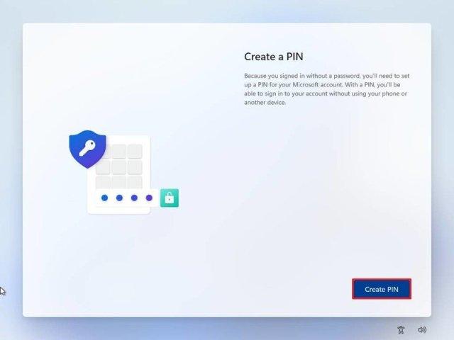 Windows 11 OOBE create PIN
