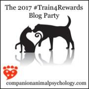 The 2017 #Train4Rewards Blog Party button