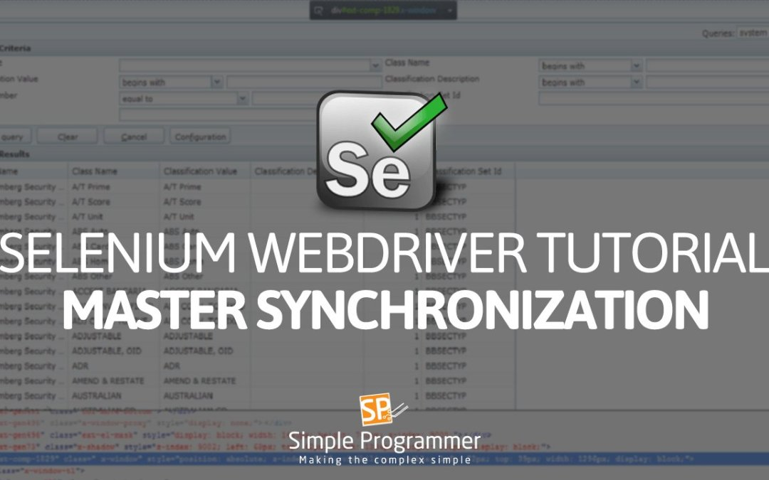 Selenium Webdriver Tutorial – Webdriver Timeouts