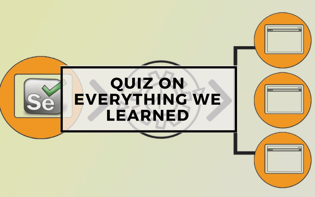 Page Objects in Test Automation – Quiz on everything we learned