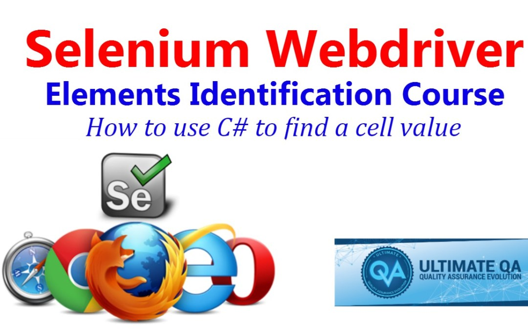 Selenium Tutorial – Element Identification – How To Use C# To Find A Cell Value