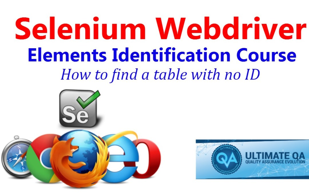 Selenium Tutorial – Element Identification – How To Find A Table With No ID