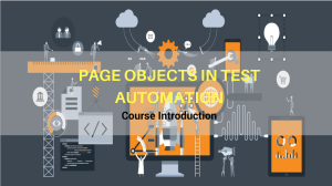 page objects in test automation course outline
