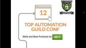 selenium webdriver resources -slides/presentations -key test automation skills and best practices
