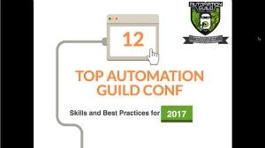 selenium webdriver resources -slides/presentations -key test automation skills and best practices