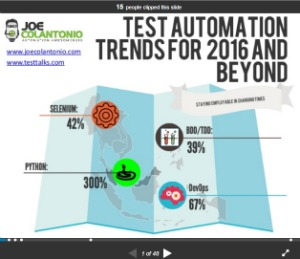 selenium webdriver resources -slides/presentations -test automation trends