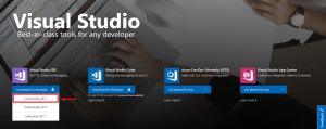 visual studio community edition download page