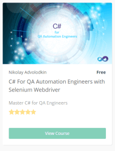 C# for QA automation engineer
