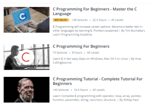 c how to learn udemy