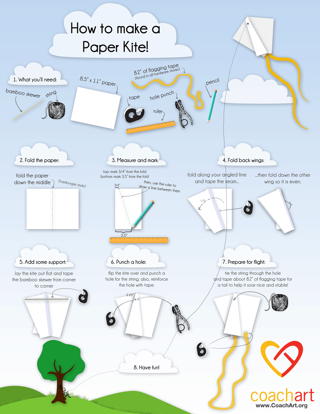 How To Make A Paper Kite Infographic