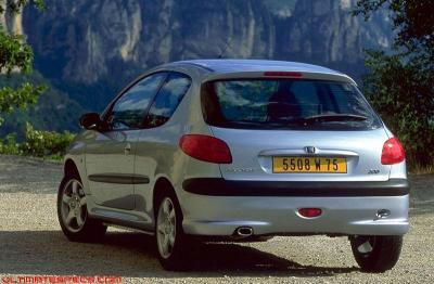 Peugeot 206 1 4 Xr Xt Xs Rg Technical Specs Dimensions