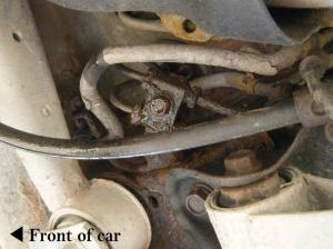 (2002 Forester) How to replace rear steel brake lines?  1990 to Present Legacy, Impreza